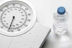 Weight scale isolated on white background Stock Photo
