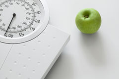 Weight scale isolated on white background Stock Photos