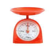Weight scale. Kitchen weight scale isolated on white background Stock Photography