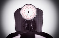 Weight on the scale Royalty Free Stock Images