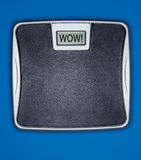 Weight Scale Message Royalty Free Stock Photo