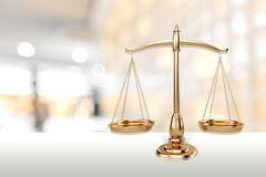 Weight Scale. Scales of Justice Law Balance Justice Gold royalty free stock photo