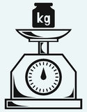 Weight scale and weight kilogram Royalty Free Stock Photography