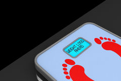 Weight Scale with Weight Loss Ahead Sign Stock Photography
