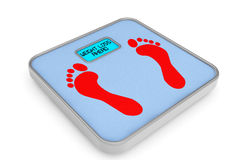 Weight Scale with Weight Loss Ahead Sign Royalty Free Stock Image