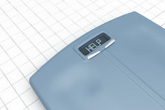 Weight scale with word help Royalty Free Stock Images