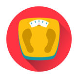 Weight scales icon. Trendy ftat Stock Images