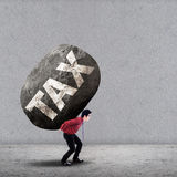 Weight tax concept Stock Photo
