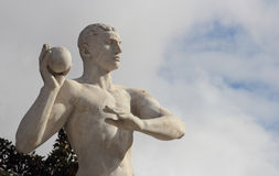 Weight throw statue Royalty Free Stock Image