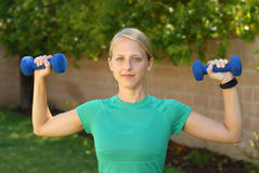 Weight training Stock Images