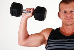 Weight training Stock Image