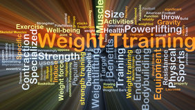 Weight training background concept glowing Royalty Free Stock Photography
