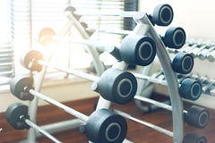 Weight training equipment Royalty Free Stock Images