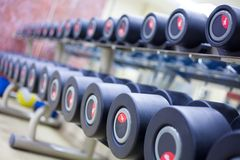 Weight Training Equipment Stock Photo