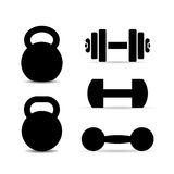 Weight training equipment vector icon royalty free illustration