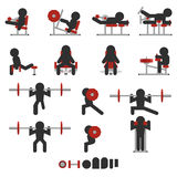 Weight training icon Royalty Free Stock Photos