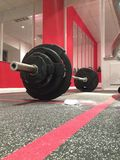 Weight training. No pain no gain royalty free stock photography