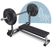 Weight training simulator Royalty Free Stock Images