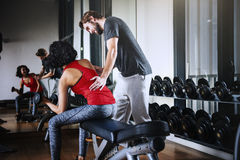 Weight Training Workout Exercise Fitness Concept Royalty Free Stock Photo