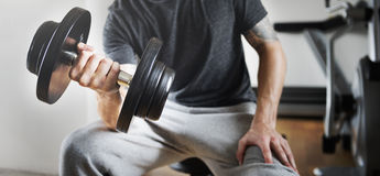 Weight Training Workout Exercise Fitness Concept Stock Photography