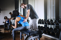 Weight Training Workout Exercise Fitness Concept.  Stock Photo