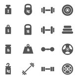Weight vector icons Stock Photography