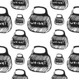 Weight vector seamless pattern stock images