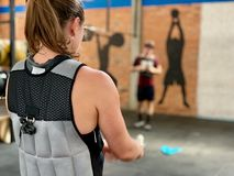 Weight Vest workout - High intensity stock image
