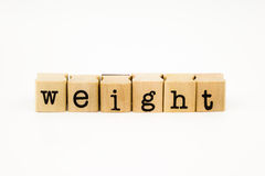 Weight wording isolate on white background Stock Images