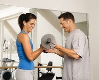 Weight workout Stock Image