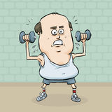 Weight Workout royalty free illustration