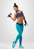 Weight workout girl Royalty Free Stock Photo
