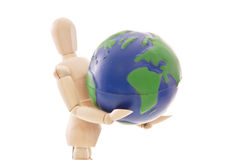 Weight of the World. Holding the Weight of the World Royalty Free Stock Photo