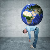 Weight of the world Royalty Free Stock Images