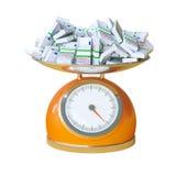 Weight of your success Stock Photos