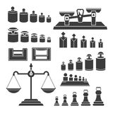 Weighting instruments - modern vector isolated set of objects Stock Images