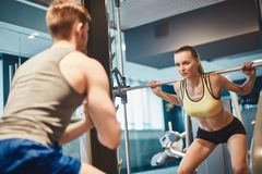 Weightlift training Royalty Free Stock Photo