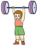 Weightlifter ilustração royalty free
