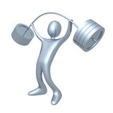 Weightlifter. Computer generated image - 3d weightlifter Stock Photos
