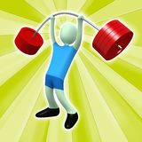 Weightlifter. Computer generated image - Weightlifter with abstract design Stock Photo