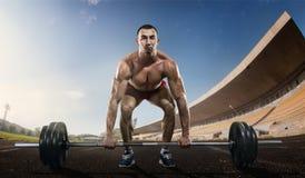 weightlifter Stock Afbeelding