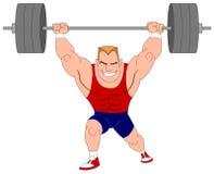 weightlifter royaltyfri illustrationer