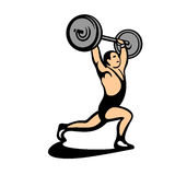 weightlifter lizenzfreie abbildung