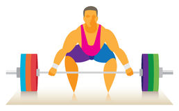 Weightlifter attempts a push rod Stock Image
