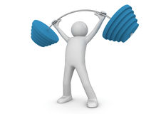 Weightlifter with barbell Stock Photography