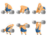 Weightlifter with barbell Royalty Free Stock Photos
