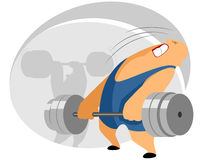 Weightlifter with barbell Stock Photo