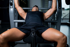Weightlifter on Benchpress Royalty Free Stock Image