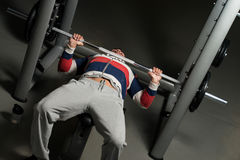 Weightlifter On Benchpress Stock Photo