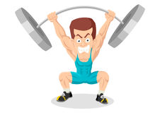 Weightlifter. Caricature illustration of a weightlifter Stock Images